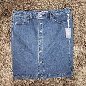 Universal Threads Denim Pencil Skirt Button Down